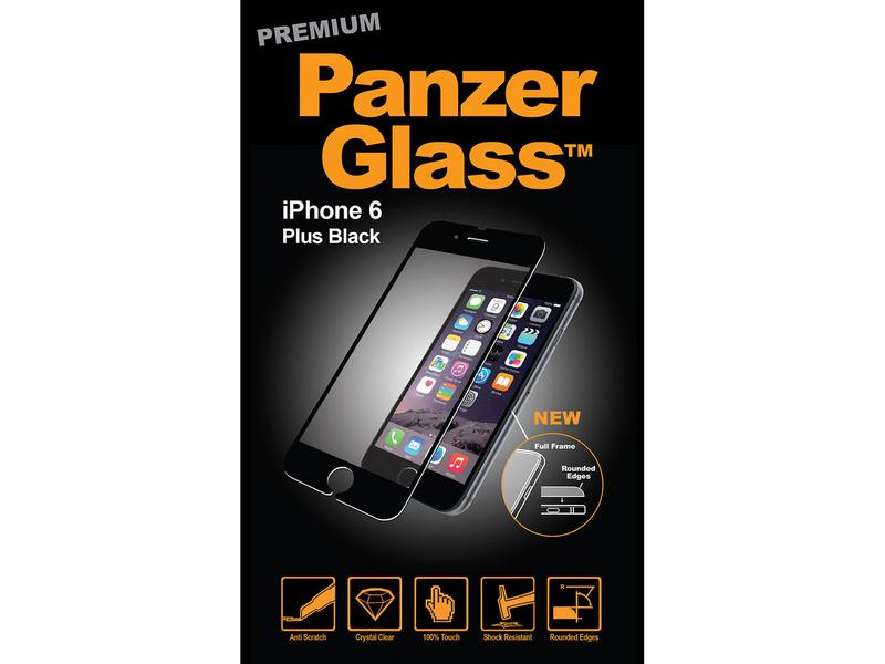 Panzerglass Displayschutz Premium Black iPhone 6/6s Plus Mobiltelefon Kompatibilität: iPhone 6 Plus, iPhone 6s Plus, Folien Effekt: Kristallklar, Kratzfest, Fettabweisend, Stossfest, Verpackungseinheit: 1 Stück, Kompatible Hersteller: Apple, schwarz