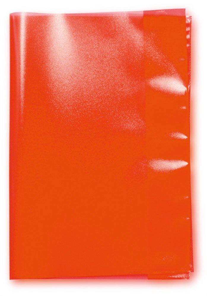 LANDRÉ Heftschoner DIN A5, rot-transparent, aus PP
