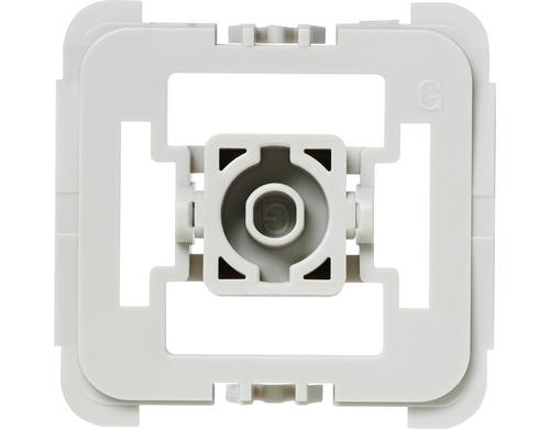 Adapter-Set Gira 55 (G), Produkttyp: Zubehör, Systemkommunikation: Stand-Alone, Produkteigenschaften: für HomeMatic Markenschalter Funk-Aktoren, Für Schalterserien System55, Standard 55, E2, Event, Espirit
