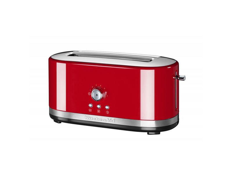 Langschlitz-Toaster 5KMT4116 rot Farbe: Rot, Toaster Ausstattung: Warmhaltefunktion, Aufwärmfunktion, Auftaufunktion, Bagelfunktion, Krümel-Auffangschale, Toaster Kategorie: Langschlitz Toaster, Toastscheiben: 4 ×