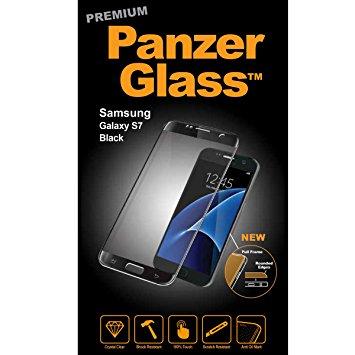 Panzerglass Displayschutz Samsung Galaxy S7 Mobiltelefon Kompatibilität: Galaxy S7, Folien Effekt: Kristallklar, Kratzfest, Fettabweisend, Stossfest, Verpackungseinheit: 1 Stück, schwarz