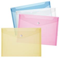 Dokumententasche, DIN A4, PP, blau/transparent