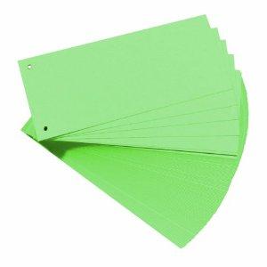 Trennstreifen, für DIN A4, Manila-Karton, grün