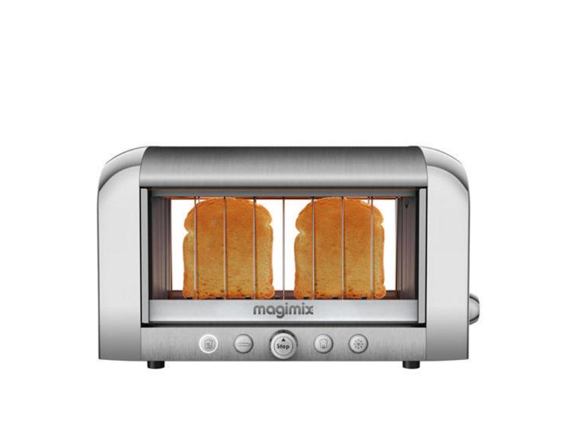 Toaster Vision 111538 Farbe: Silber, Toaster Ausstattung: Auftaufunktion, Krümel-Auffangschale, Toaster Kategorie: Klassischer Toaster, Toastscheiben: 2 ×, Sichtkontrolle