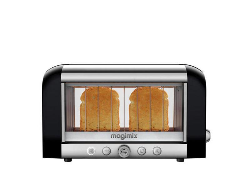 Toaster Vision 111541 Farbe: Schwarz, Toaster Ausstattung: Auftaufunktion, Krümel-Auffangschale, Toaster Kategorie: Klassischer Toaster, Toastscheiben: 2 ×, Sichtkontrolle