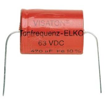 Tonfrequenz-Elko rauh 82 æF, 63 V DC, 10 % Toleranz, zum Aufbau von Frequenzweichen
