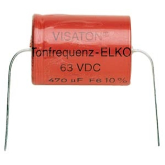 Tonfrequenz-Elko rauh 150 æF, 63 V DC, 10 % Toleranz, zum Aufbau von Frequenzweichen