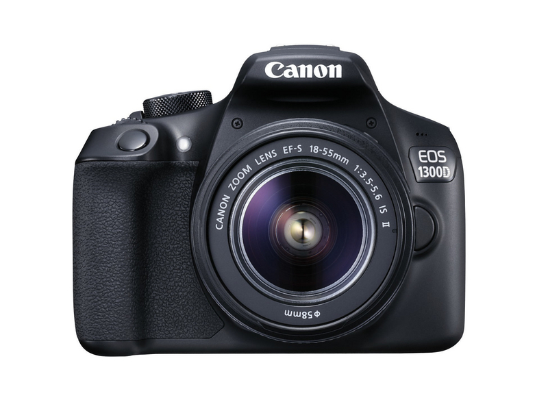 Canon SLR Kamera EOS 1300D Kit, 3 zoll LCD, 18 MP, 5184 x 34566 Pixel, SD-SDHC-SDXC, Schwarz