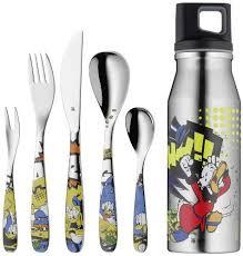 Juniorbesteck-Set 6-teilig Donald Duck, inklusive Trinkflasche,