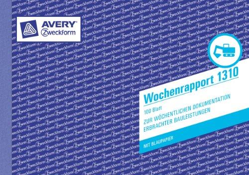"Formularbuch ""Wochenrapport"", A5 quer"
