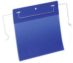 Drahtbügeltasche, A5 quer, blau