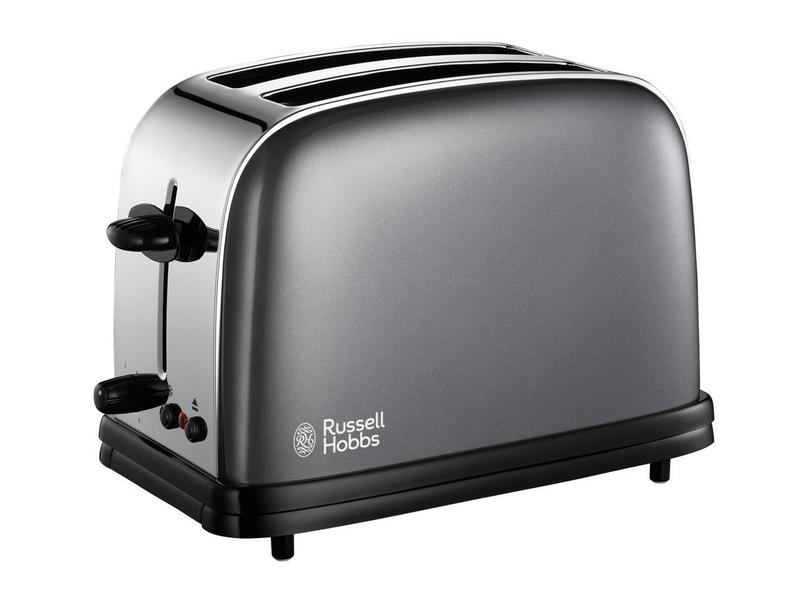 Toaster 18954-56 Farbe: Grau, Toaster Ausstattung: Auftaufunktion, Bräunungsgrad-Einstellung, Brötchen-Röstaufsatz, Krümel-Auffangschale, Toaster Kategorie: Klassischer Toaster, Toastscheiben: 2 ×