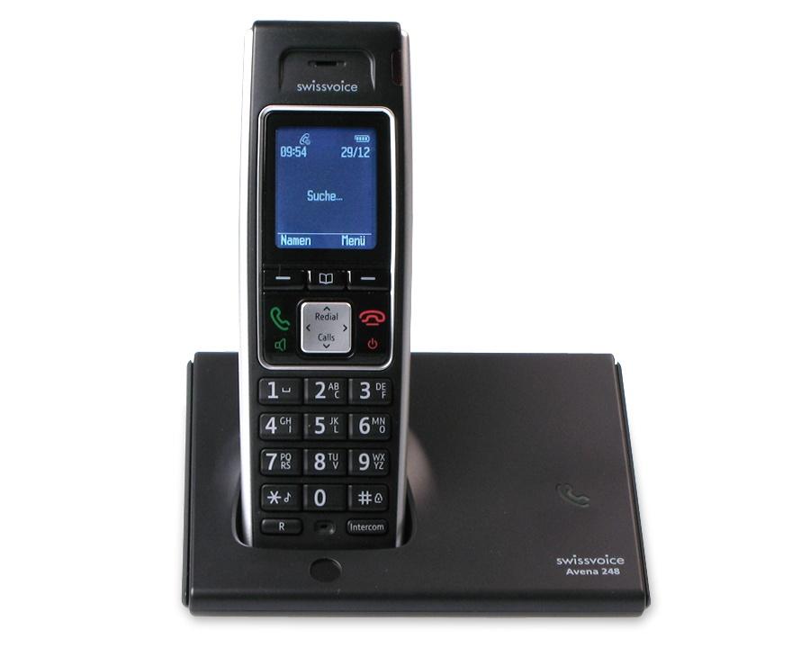 Swissvoice Avena 248 zusätzliches Mobilteil mit Ladeschale,Tastensperre,