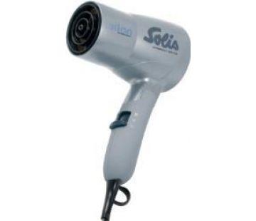 Solis Reisehaartrockner Compact Dryer Typ 379, Typ: Trockner, Klappbarer Griff, Spannungsanpassung, Farbe: Silber, Ionentechnologie, Leistung: 1600 W