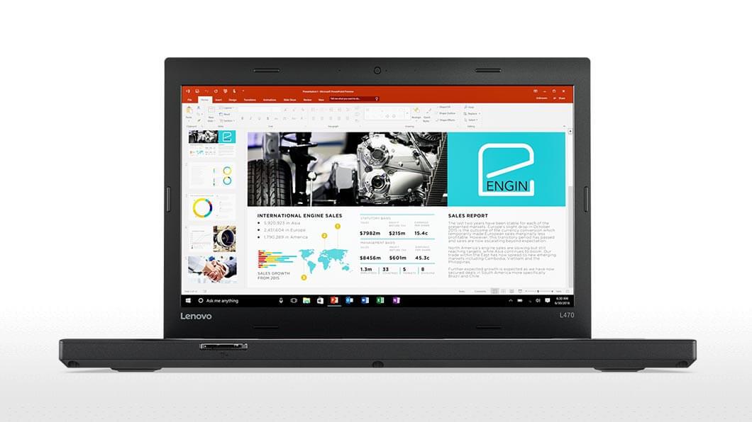 Lenovo Notebook ThinkPad L470, Intel Core i5-7200U, 8GB DDR4 RAM, 256GB SSD, 14 Zoll, 1920 x 1080 Pixel, Windows 10