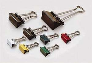 Foldback-Klammer, sortiert, (B)19 mm, Klemmweite: 7 mm