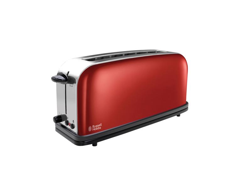 Toaster 21391-56 Farbe: Rot, Toaster Ausstattung: Auftaufunktion, Bräunungsgrad-Einstellung, Brötchen-Röstaufsatz, Krümel-Auffangschale, Toaster Kategorie: Langschlitz Toaster, Toastscheiben: 2 ×