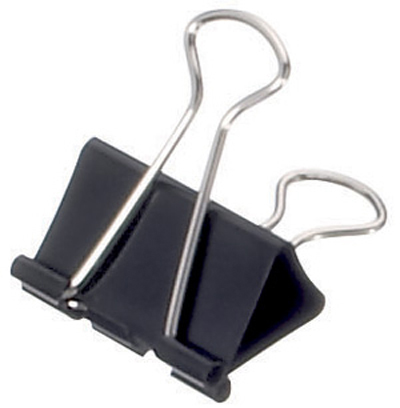 mauly 214 Foldback-Klammer, schwarz, (B)32 mm