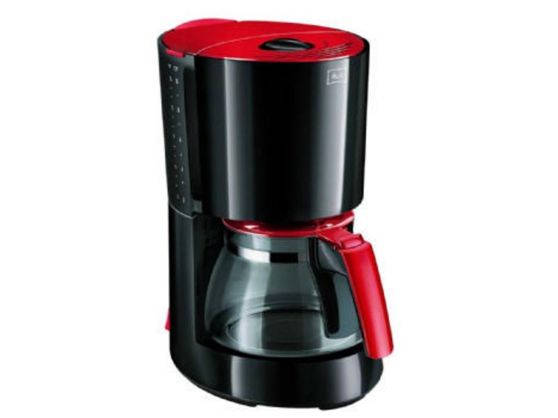 Enjoy Filterkaffeemaschine Farbe: Schwarz, Rot, Anzahl Tassen: 10 ×, Material: Kunststoff, Ausstattung: Einstellbare Tassenmenge, Kaffeestärke in Stufen programmierbar