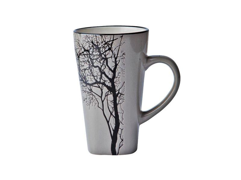 Kaffeebecher mit Baum, 0.5 l, Tassen Typ: Teetasse, Farbe: Grau, Material: Stein, Verpackungseinheit: 12 Stück, Volumen: 0.5 l