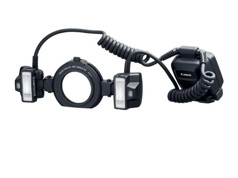 Canon Blitzgerät Macro Twin Lite MT-26EX-RT Belichtungskontrolle: E-TTL II, E-TTL, TTL, Leitzahl: 26, Kompatible Kamerahersteller: Canon, Kapazität Wattstunden: 4 Wh