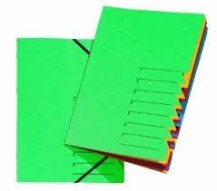 "Ordnungsmappe ""EASY"", DIN A4, Karton, 7 Fächer, grün"