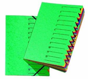 "Ordnungsmappe ""EASY"", DIN A4, Karton, 12 Fächer, grün"