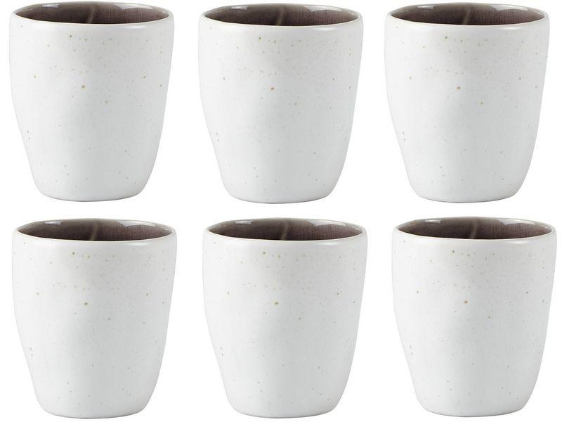 Trinkbecher 6er Set 0.20 l, Glas Typ: Trinkglas, Farbe: Violett; Weiss, Verpackungseinheit: 6 Stück, Volumen: 0.2 l, Durchmesser Ø 7.5 cm