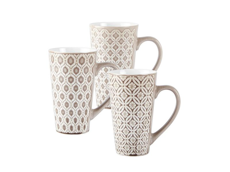 Kaffeetasse 6er Set grau 0.5 l, Tassen Typ: Kaffeetasse, Farbe: Grau, Material: Keramik, Verpackungseinheit: 6 Stück, Volumen: 0.5 l