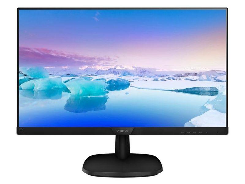 Philips 273V7QDAB, 27 Zoll LED, 1920 x 1080 Pixel Full HD, 16:9, VGA HDMI, Schwarz