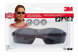 3M Komfort-Schutzbrille 2821C grau, optimaler Schlagschutz, einstellbare Bügelneigung,