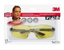 3M Komfort-Schutzbrille 2822C gelb, optimaler Schlagschutz, einstellbare Bügelneigung,