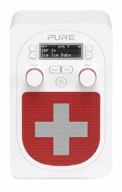 PURE SWISS EDITION - Bluetooth, DAB+ / UKW Tuner, 3.5mm Eingang, Mini USB (für Produkt-Upgrades)