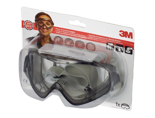 3M Komfort-Vollsichtbrille 2890SC, verstellbares Kopfband, chemische Beständigkeit,