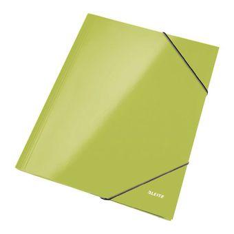 Eckspannermappe WOW, DIN A4, Karton, grün-metallic
