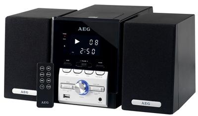 AEG Musik-Kompaktanlage 4443,schwarz/silber