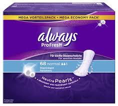 Always Slipeinlage ProFresh Normal 68 Stück, Tageszeit: Tag, Packungsgrösse: 68 Stück, Saugstärke: 2, Megapack, für leichte Blasenschwäche, NeutraPearls binden Gerüche