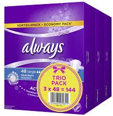 Slipeinlage Large Trio Vorteilspack, 3 Packungen à 48 Stück, Total 144 Stück,
