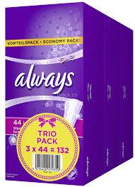 Slipeinlage Long Trio Vorteilspack, 3 Packungen à 44 Stück, Total 132 Stück,