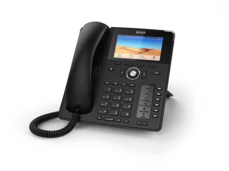 snom Tischtelefon D785, Übertragungsart: LAN, SIP-Konten: 12 ×, Telefonkategorie: VoIP; IP; SIP, Verbindungsart Headset: Bluetooth; RJ-9; USB, Farbe: Schwarz, PoE