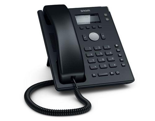 snom Tischtelefon D120, Übertragungsart: LAN, SIP-Konten: 2 ×, Telefonkategorie: IP; SIP; VoIP, Verbindungsart Headset: RJ-9, Farbe: Schwarz, PoE