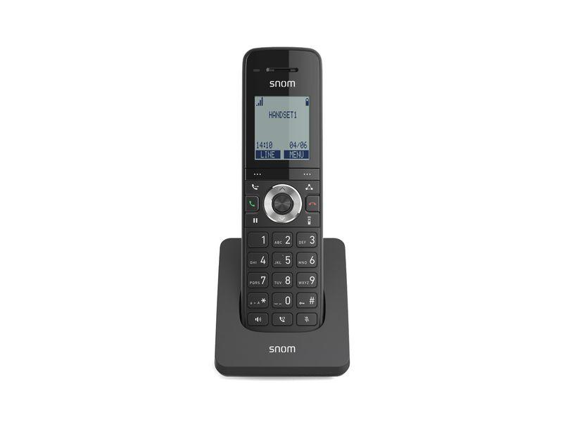 snom Zusatzmobilteil M15 SC, Telefonkategorie: Zusatzmobilteil, SIP-Konten: 0 ×, Übertragungsart: DECT, Farbe: Schwarz, Kapazität Wattstunden: keine Angaben
