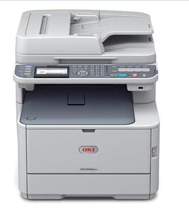 OKI MC562dnw, Farblaser Drucker, A4, 30 Seiten pro Minute, Drucken, Scannen, Kopieren, Fax, Duplex und WLAN