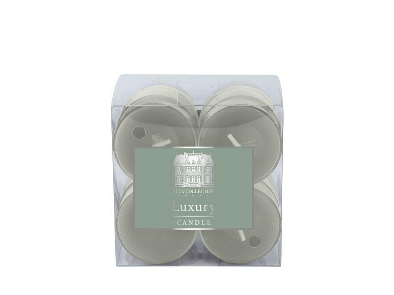 Kerze Teelichter 12er Set Grün, Art: Teelichter, Höhe: 2 cm, Farbe: Grün, Verpackungseinheit: 12 Stück, Durchmesser: 4 cm, Brenndauer von 4h