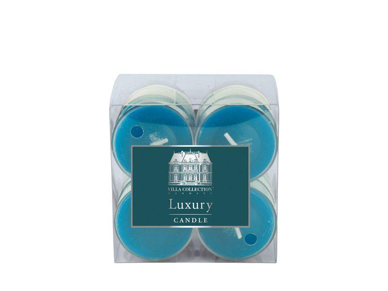 Kerze Teelichter 12er Set Türkis, Art: Teelichter, Höhe: 2 cm, Farbe: Türkis, Verpackungseinheit: 12 Stück, Durchmesser: 4 cm, Brenndauer von 4h