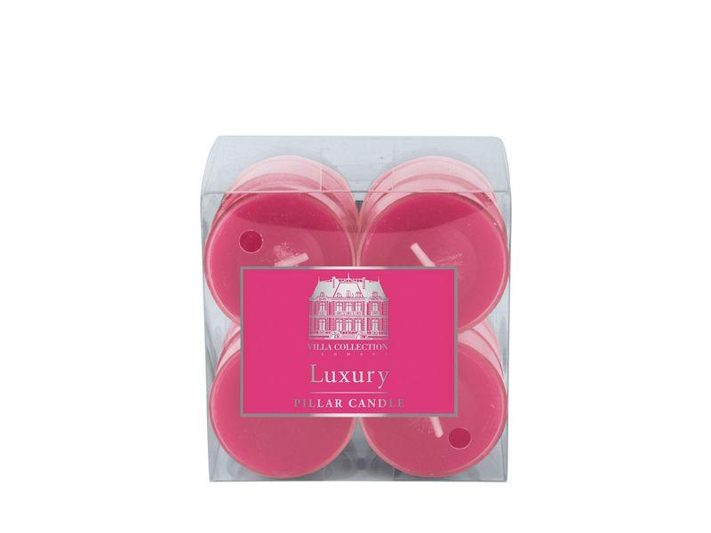 Kerze Teelichter 12er Set Pink, Art: Teelichter, Höhe: 2 cm, Farbe: Pink, Verpackungseinheit: 12 Stück, Durchmesser: 4 cm, Brenndauer von 4h