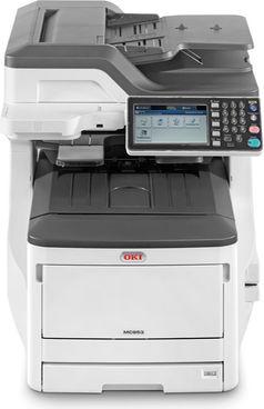 OKI MC853DNV, Farblaser Drucker, A3, 23 Seiten pro Minute, Drucken, Scannen, Kopieren, Fax, Duplex