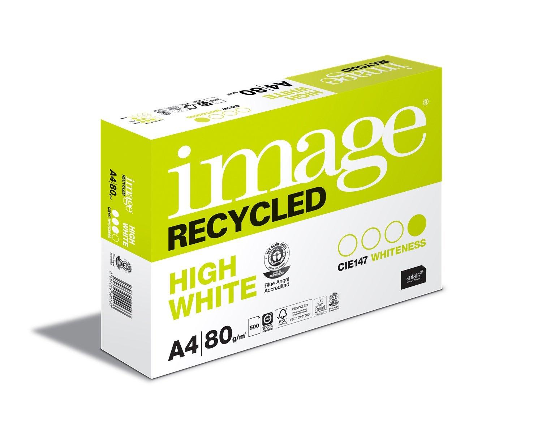 Image Recycled Universalpapier A4, hochwweiss, 80g/m², Packung à 500 Blatt, 100% Recycling,