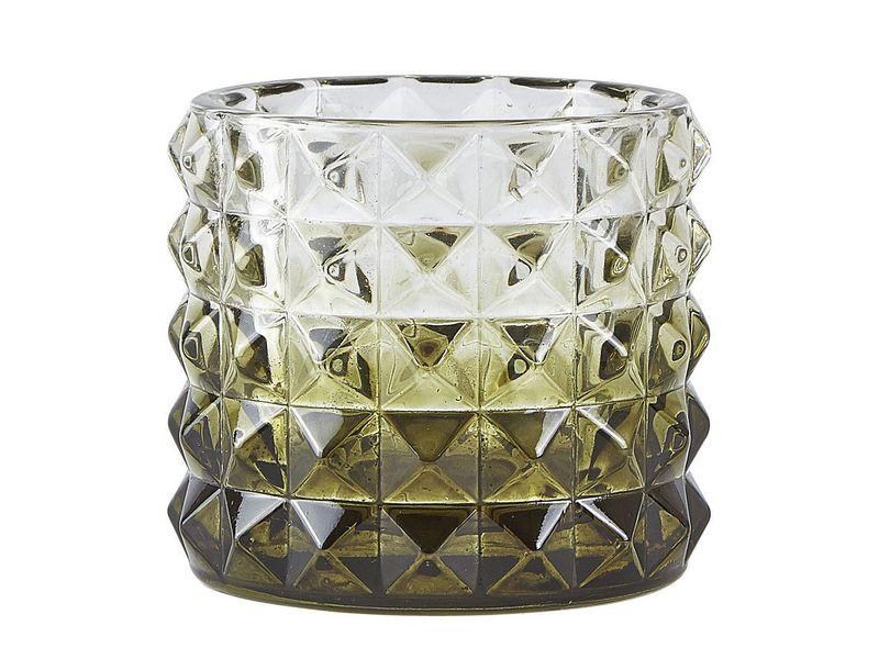 Teelichthalter 9 cm 1 Stück, Grün Transparent Farbe: Grün, Transparent, Material: Glas, Höhe: 9 cm, Verpackungseinheit: 1 Stück, Durchmesser Ø 10 cm
