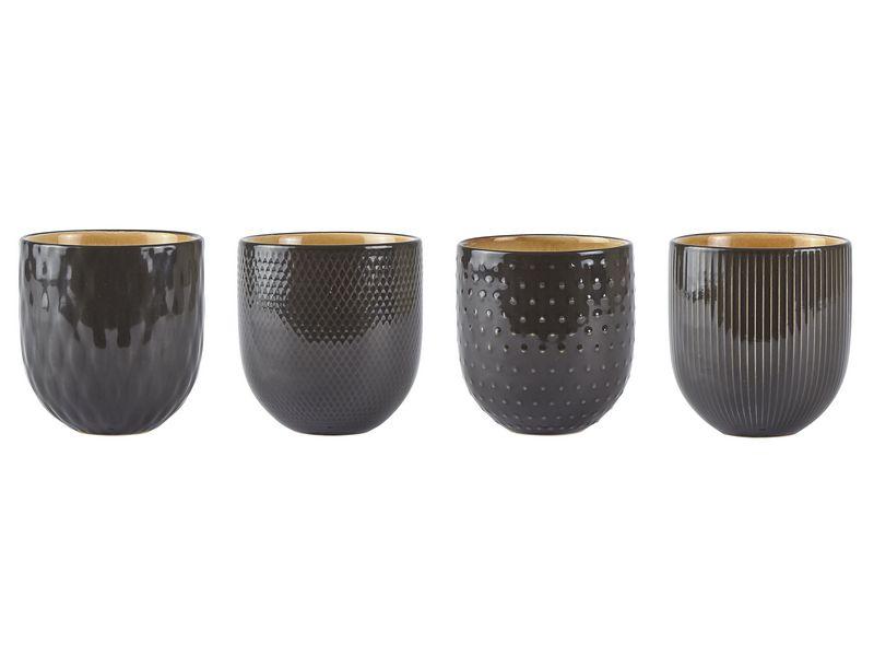 Kaffeetasse 12er Set 0.4 l, Tassen Typ: Kaffeetasse, Farbe: Grau, Material: Keramik, Verpackungseinheit: 12 Stück, Volumen: 0.4 l